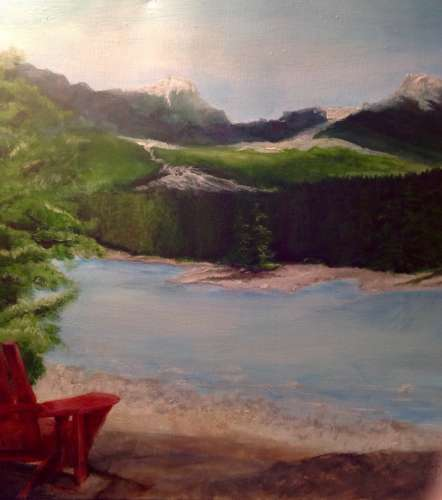 The Rockies - Banff National Park, Acrylic, $$375.0000