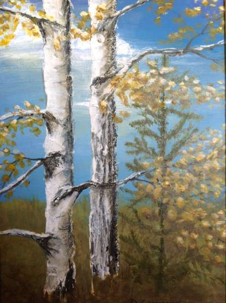 Twin Birches at Earl Rowe